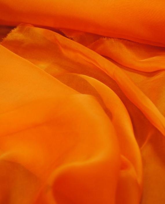 """Ткань Шелк Шифон """"Морковный"""" 0079 цвет оранжевый картинка 2"""