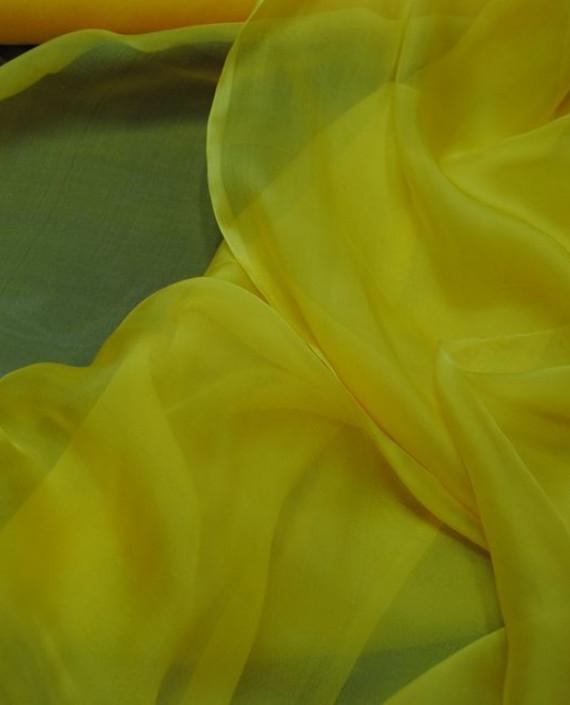 """Ткань Шелк Шифон """"Желтый"""" 0082 цвет желтый картинка"""