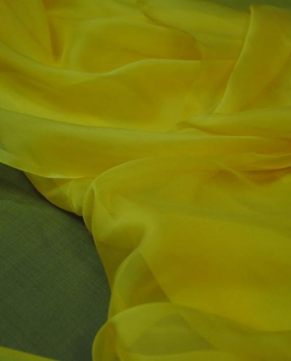 """Ткань Шелк Шифон """"Желтый"""" 0082 цвет желтый картинка 3"""