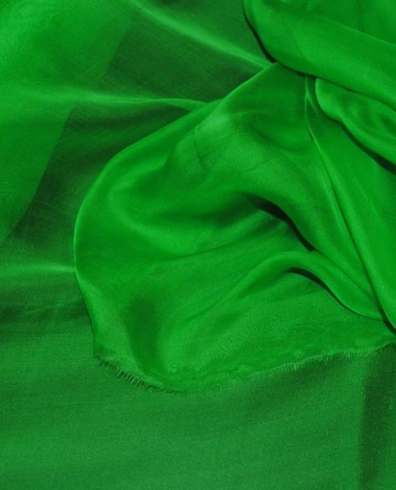 """Ткань Шелк Шифон """"Зеленый"""" 0085 цвет зеленый картинка"""