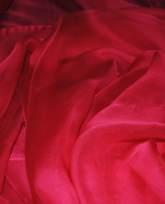 """Ткань Шелк Шифон """"Ализариновый"""" 0086 цвет красный картинка 2"""