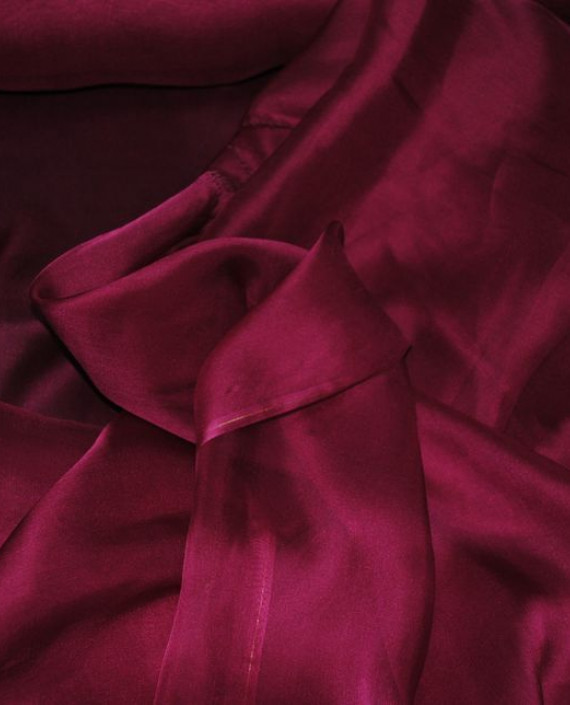 "Ткань Шелк Шифон ""Бургунди"" 0090 цвет бордовый картинка"