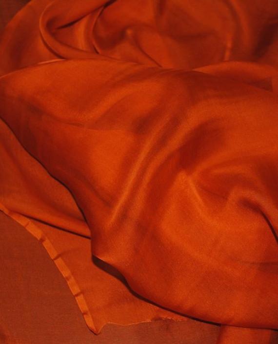 "Ткань Шелк Шифон ""Кирпичный"" 0092 цвет оранжевый картинка 1"