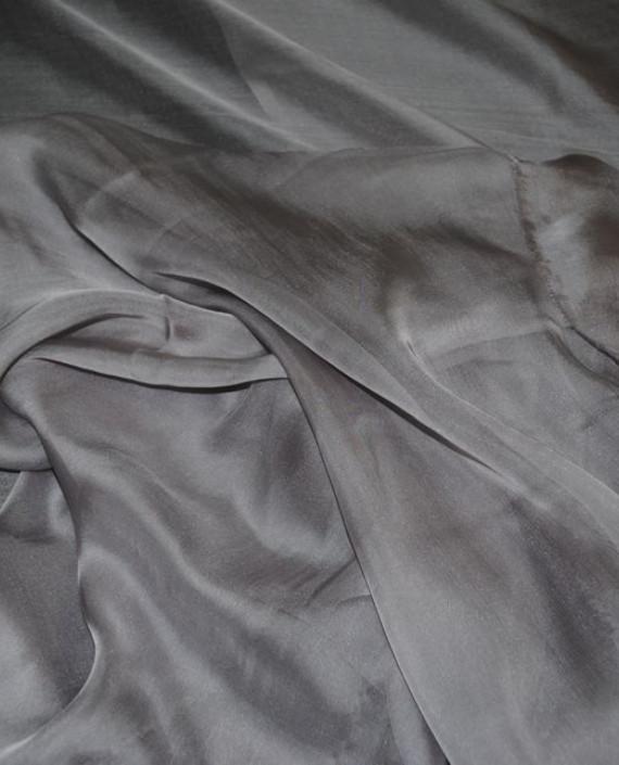 "Ткань Шелк Шифон ""Серый"" 0093 цвет серый картинка 2"