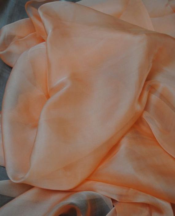 "Ткань Шелк Шифон ""Сомон"" 0095 цвет розовый картинка"