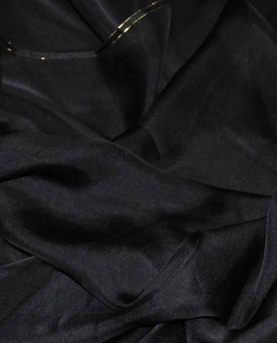 """Ткань Шелк Шифон """"Черный"""" 0097 цвет черный картинка"""
