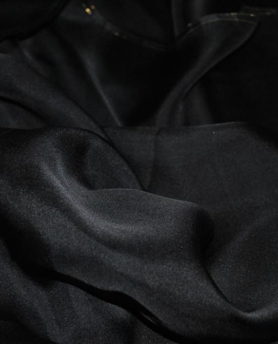 """Ткань Шелк Шифон """"Черный"""" 0097 цвет черный картинка 2"""