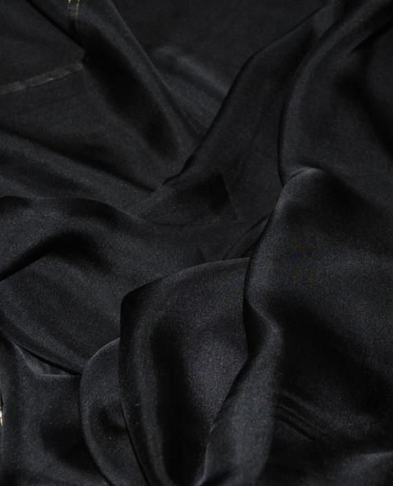 """Ткань Шелк Шифон """"Черный"""" 0097 цвет черный картинка 1"""