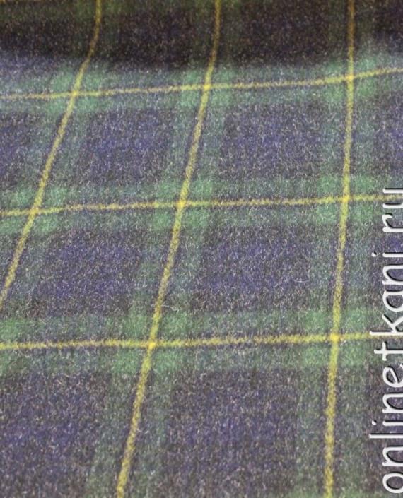 """Ткань шерстяная пальтовая """"Шотландская клетка"""" 4001 цвет сиреневый в клетку картинка"""