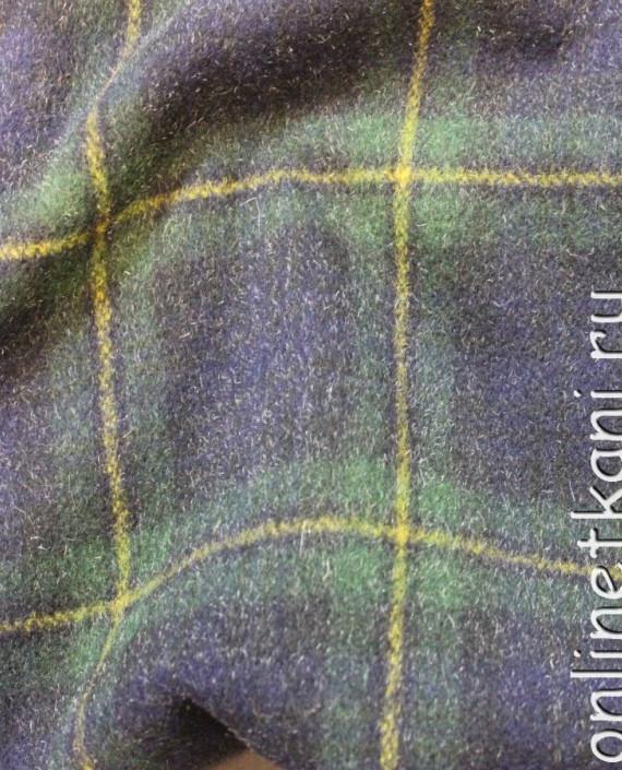 """Ткань шерстяная пальтовая """"Шотландская клетка"""" 4001 цвет сиреневый в клетку картинка 1"""