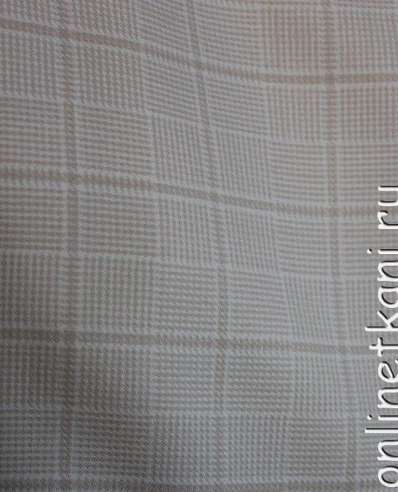 Ткань шерстяная для делового костюма 4005 цвет серый в клетку картинка