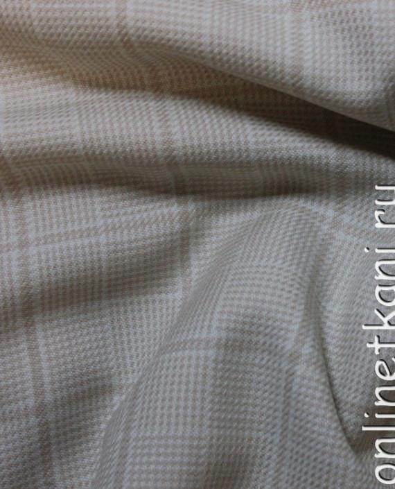 Ткань шерстяная для делового костюма 4005 цвет серый в клетку картинка 2