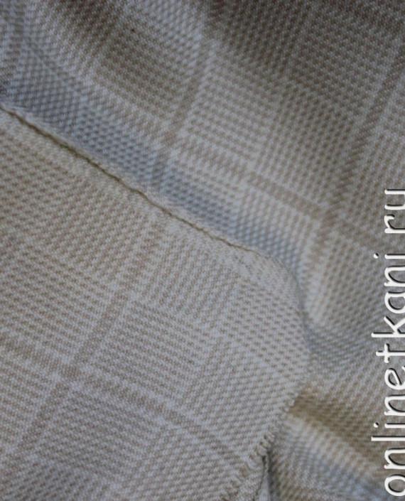 Ткань шерстяная для делового костюма 4005 цвет серый в клетку картинка 1