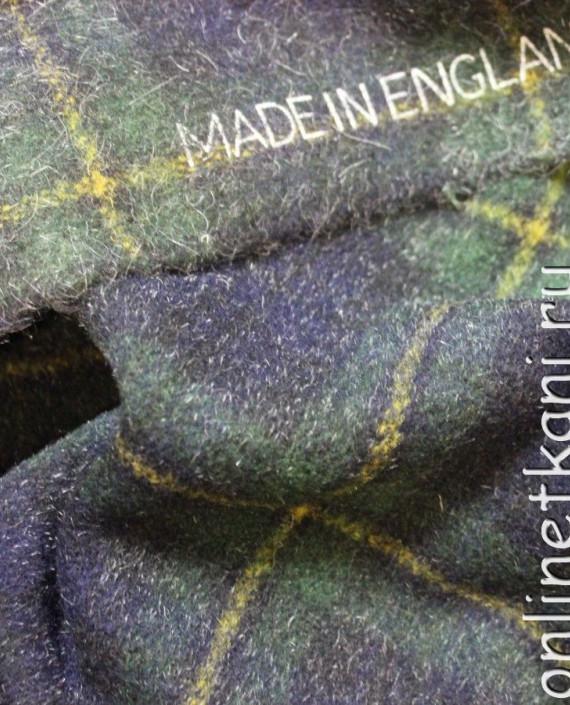 """Ткань шерстяная пальтовая """"Шотландская клетка"""" 4001 цвет сиреневый в клетку картинка 2"""