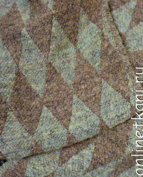"""Ткань шерсть """"Ромб"""" 4014 цвет коричневый геометрический картинка 2"""