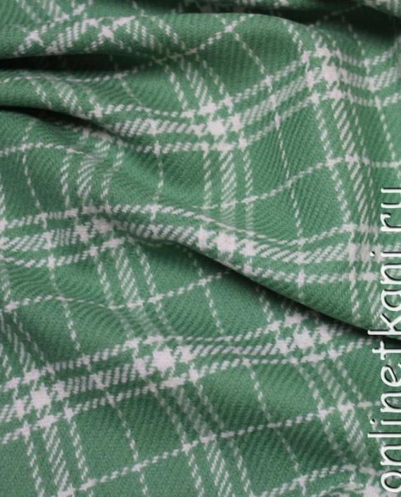 """Ткань Шерсть """"Крайола"""" 4002 цвет зеленый в клетку картинка 1"""