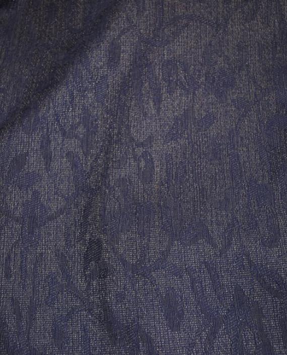 """Ткань Шерсть """"Мечты"""" 0003 цвет фиолетовый цветочный картинка 1"""