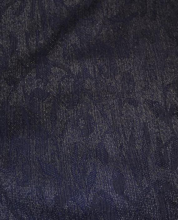 """Ткань Шерсть """"Мечты"""" 0003 цвет фиолетовый цветочный картинка 2"""