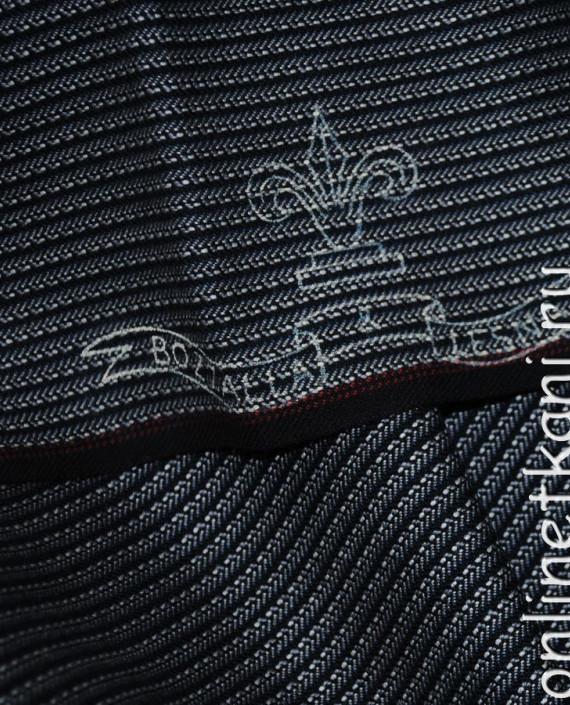 """Ткань Шерсть """"Bozzalla"""" 0005 цвет серый в полоску картинка"""