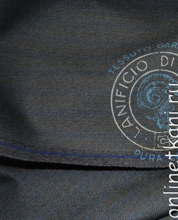 """Ткань Шерсть """"Tissuto"""" 0007 цвет серый в полоску картинка 1"""