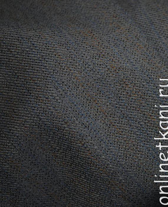 """Ткань Шерсть """"Tissuto"""" 0007 цвет серый в полоску картинка 2"""