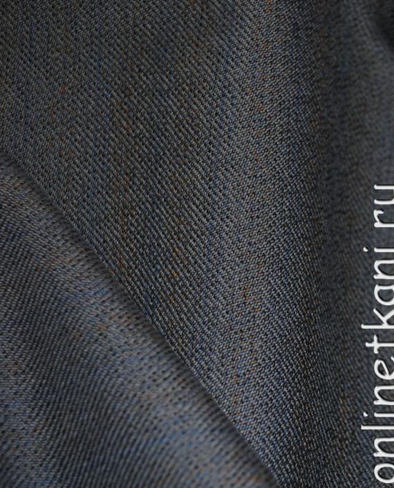 """Ткань Шерсть """"Tissuto"""" 0007 цвет серый в полоску картинка 3"""