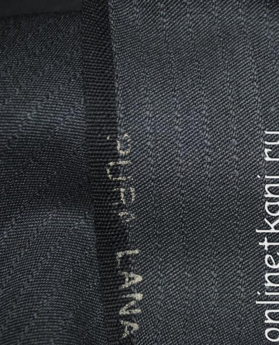 """Ткань Шерсть костюмная """"Pura Lana"""" 0008 цвет серый в полоску картинка 2"""