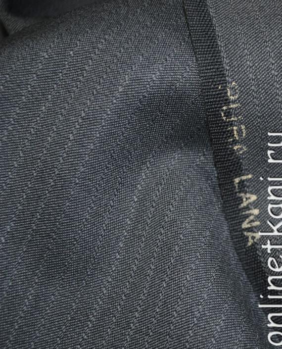 """Ткань Шерсть костюмная """"Pura Lana"""" 0008 цвет серый в полоску картинка"""