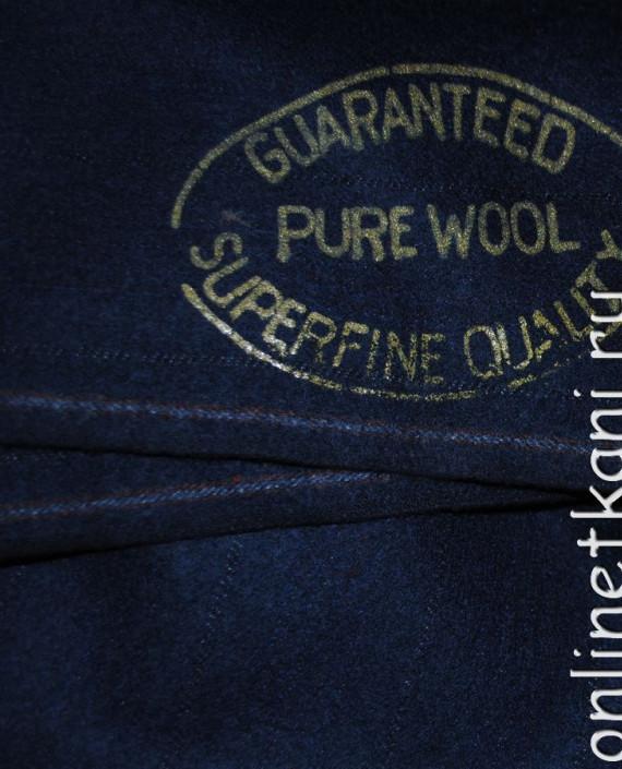 "Ткань Шерсть ""Pure Wool"" 0012 цвет синий картинка"