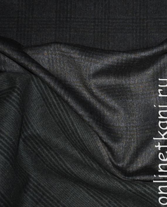 """Ткань Шерсть Пальтовая """"Per cappotto"""" 0013 цвет хаки в клетку картинка"""