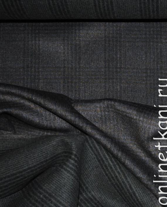 """Ткань Шерсть Пальтовая """"Per cappotto"""" 0013 цвет хаки в клетку картинка 3"""
