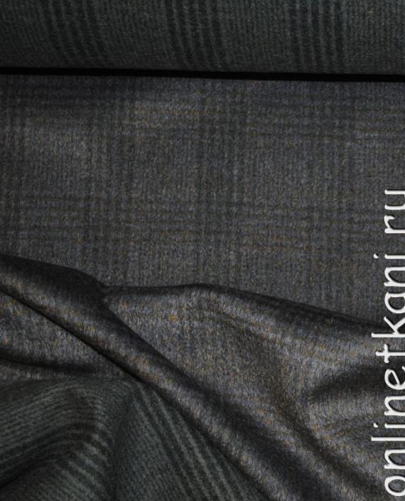 """Ткань Шерсть Пальтовая """"Per cappotto"""" 0013 цвет хаки в клетку картинка 2"""