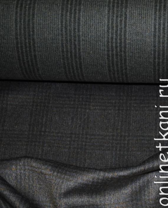 """Ткань Шерсть Пальтовая """"Per cappotto"""" 0013 цвет хаки в клетку картинка 1"""