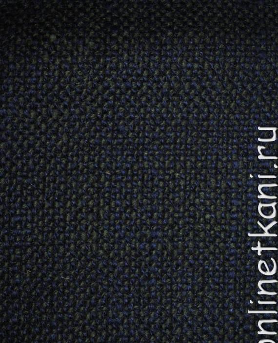 """Ткань Шерсть Пальтовая  """"Di Lana"""" 0014 цвет синий картинка 4"""