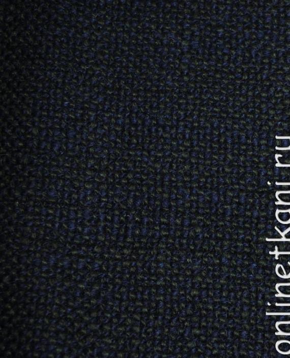 """Ткань Шерсть Пальтовая  """"Di Lana"""" 0014 цвет синий картинка 3"""