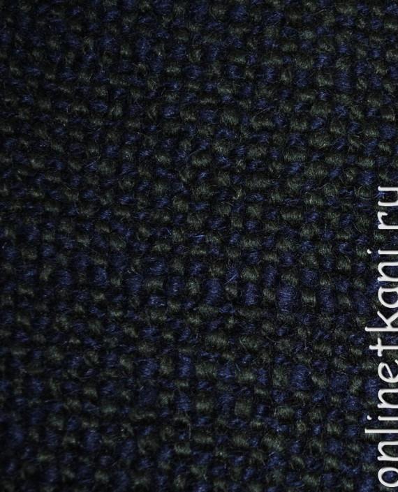 """Ткань Шерсть Пальтовая  """"Di Lana"""" 0014 цвет синий картинка 2"""