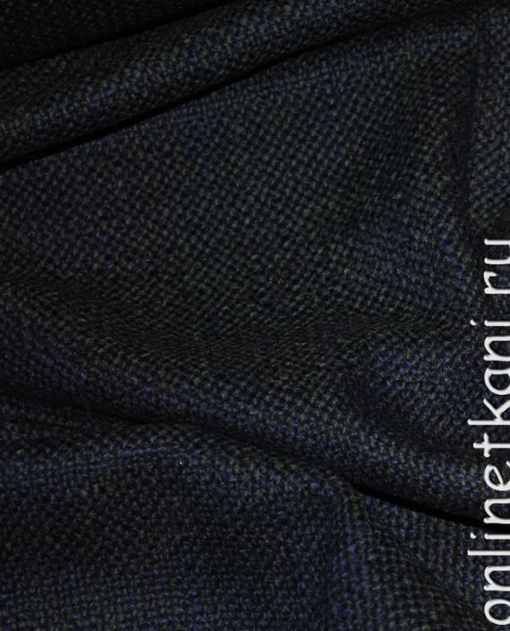 """Ткань Шерсть Пальтовая  """"Di Lana"""" 0014 цвет синий картинка 1"""