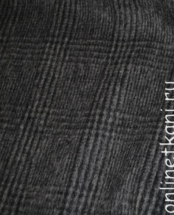 """Ткань Шерсть Пальтовая """"SEI"""" 0015 цвет серый в клетку картинка 3"""
