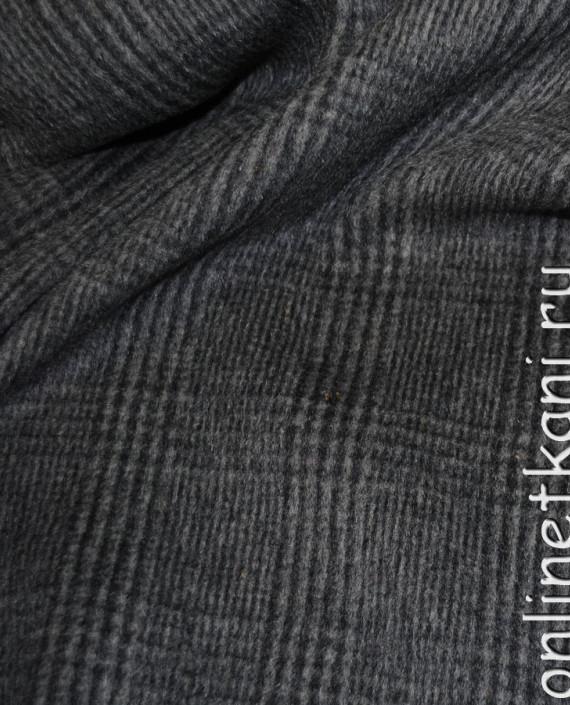 """Ткань Шерсть Пальтовая """"SEI"""" 0015 цвет серый в клетку картинка 2"""