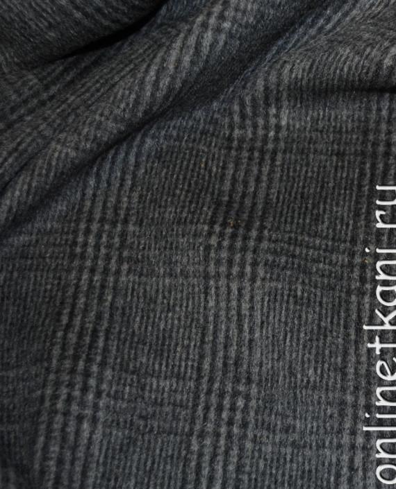 """Ткань Шерсть Пальтовая """"SEI"""" 0015 цвет серый в клетку картинка 1"""