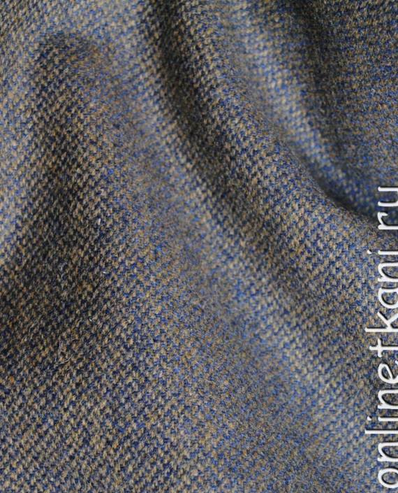 """Ткань шерсть """"Серый и голубой"""" 0064 цвет разноцветный картинка"""