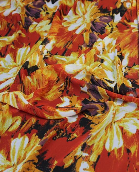 """Ткань Шифон """"Осень"""" 4013 цвет разноцветный абстрактный картинка"""