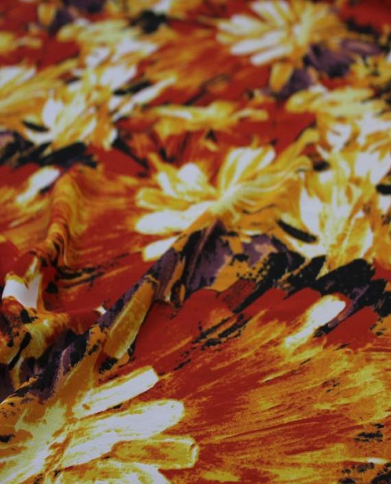 """Ткань Шифон """"Осень"""" 4013 цвет разноцветный абстрактный картинка 2"""