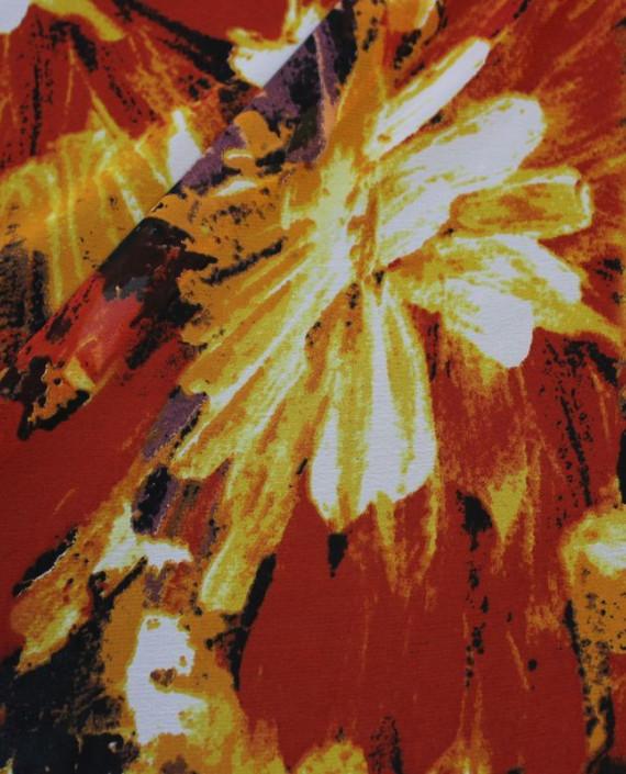 """Ткань Шифон """"Осень"""" 4013 цвет разноцветный абстрактный картинка 1"""