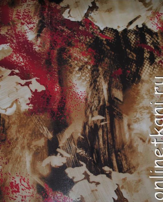 """Ткань Шифон """"Брызги"""" 4001 цвет разноцветный абстрактный картинка 2"""