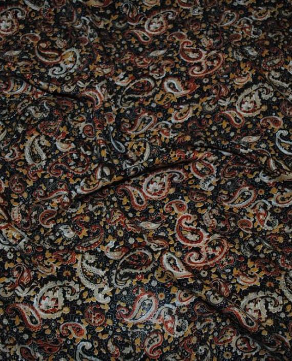 """Ткань Штапель """"Огурцы"""" 028 цвет разноцветный абстрактный картинка"""