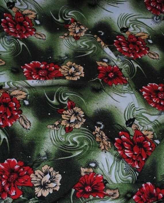 """Ткань Штапель """"Астры"""" 041 цвет разноцветный цветочный картинка"""