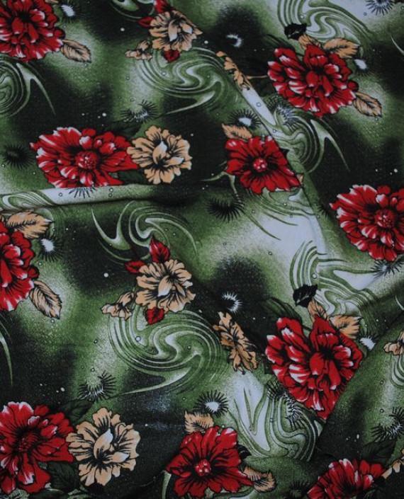 """Ткань Штапель """"Астры"""" 041 цвет разноцветный цветочный картинка 2"""