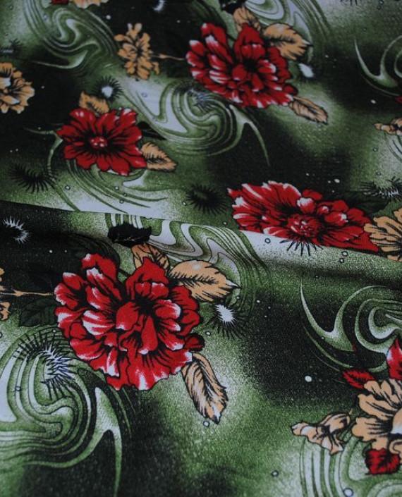 """Ткань Штапель """"Астры"""" 041 цвет разноцветный цветочный картинка 1"""