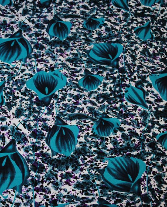 """Ткань Штапель """"Коалы"""" 042 цвет разноцветный цветочный картинка"""